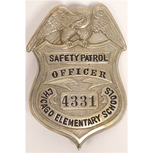 Safety Patrol Officer Badge Chicago Elementary Schools  [132843]