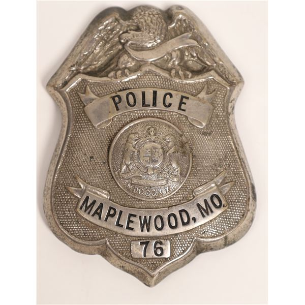 Police Badge from Maplewood, Mo., S.G. Adams Co.  [132844]