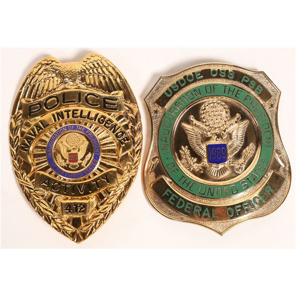 Pres. Inauguration Police Badges 1989-97  [121712]