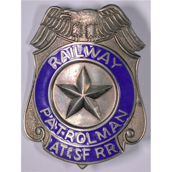 Atchison Topeka & Santa Fe Railway Patrolman Badge    [132485]