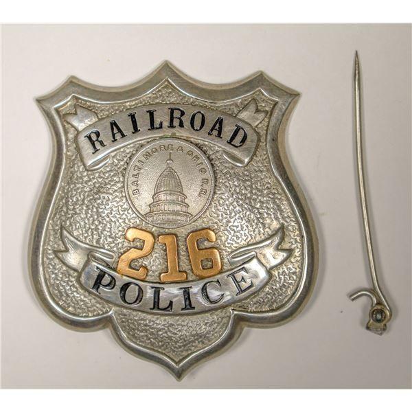 Baltimore & Ohio Railroad Police Badge  [132235]