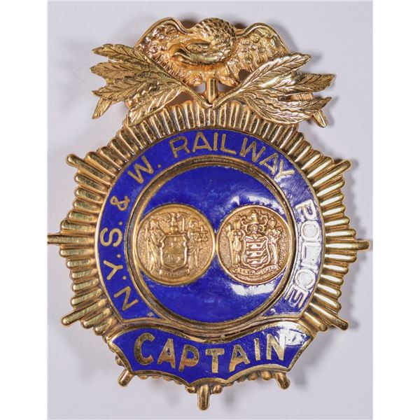 New York, Susquehanna & Western Railway Police Captain badge   [132487]