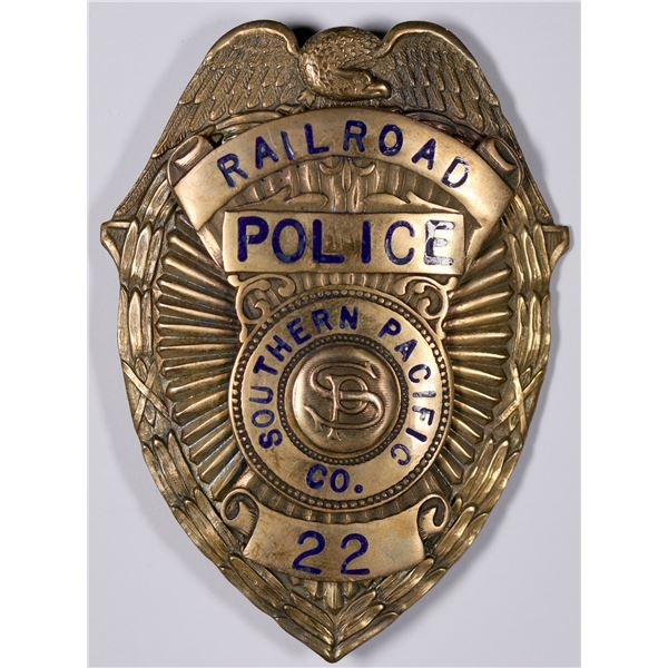 Southern Pacific Railroad Police Badge  [132486]