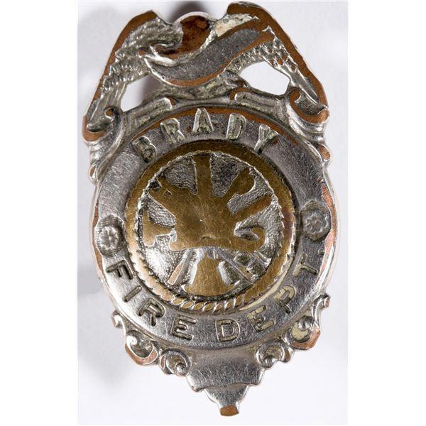 Brady Fire Department Badge  [132841]
