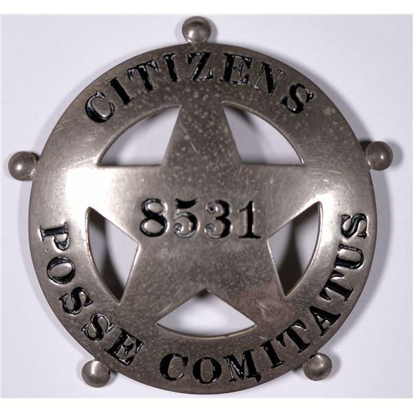 Citizens Posse Comitatus Badge  [132482]