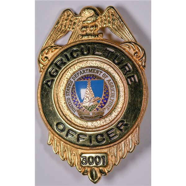 U.S. Dept. of Agriculture Officer Badge  [132481]