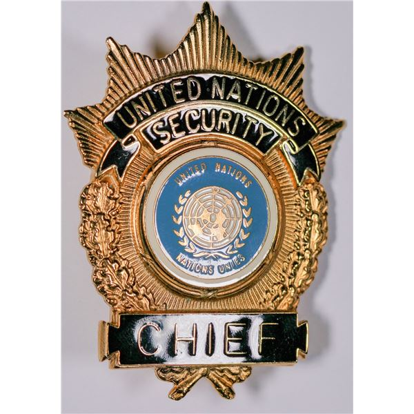 United Nations Security Chief Badge  [132480]
