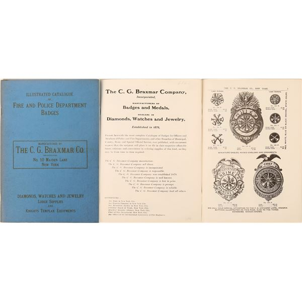 Police & Fire Department Illustrated Catalog of Badges & Medals  [125550]