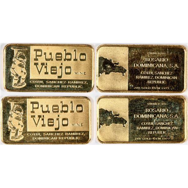 Pueblo Viejo Mine Gold Ingots  [132139]
