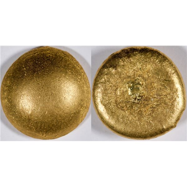 Gold Button (ingot) from Downieville Placer Gold  [133731]