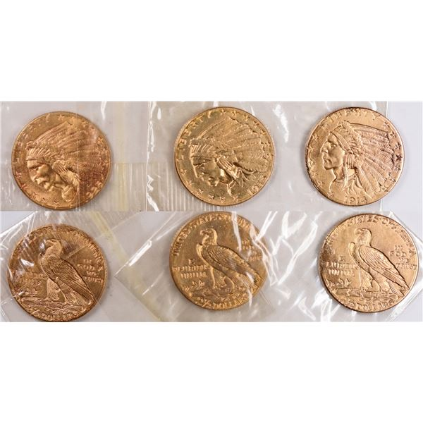$2.50 Indian Head Gold Pieces Lot of 3  [124791]