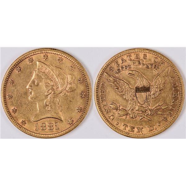 U.S. $10 Liberty Head Gold Piece  [124790]