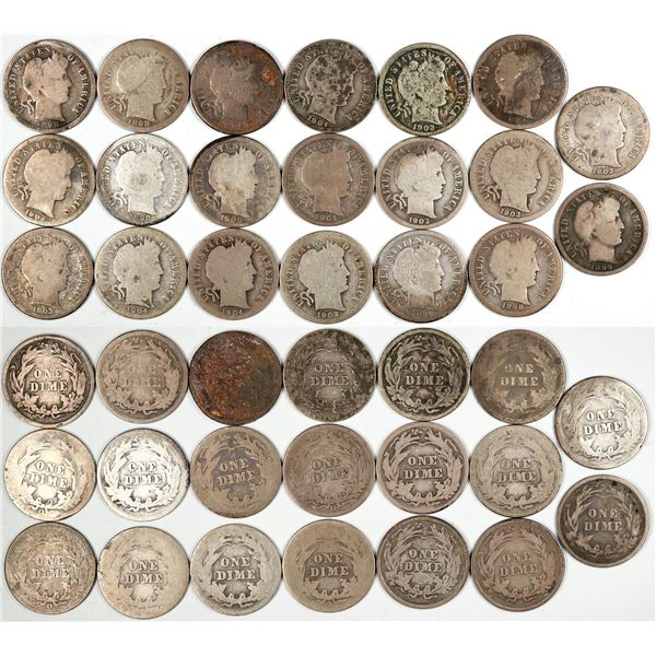 Barber Dime Collection  [135515]