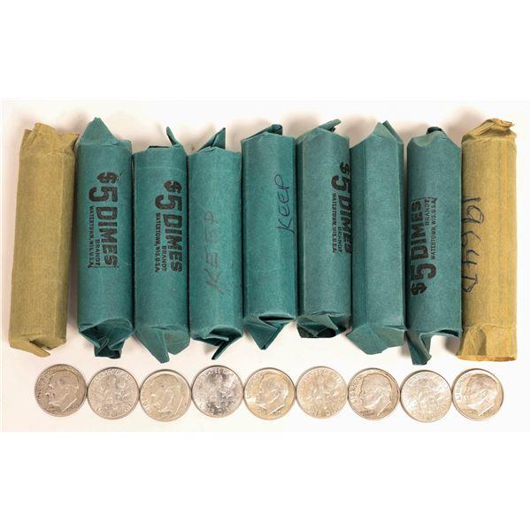 Rolls of U.S. Silver Dimes  [131187]