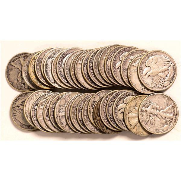 Walking Liberty Half Dollar Rolls  [131184]