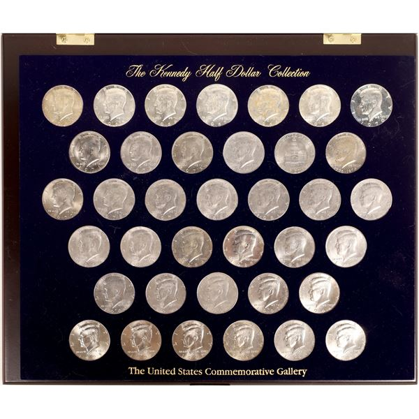 Kennedy Half Dollar Collection in Wooden Case  [132034]