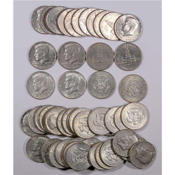 Kennedy Half Dollars: 40% silver and Bicentennial  [135332]