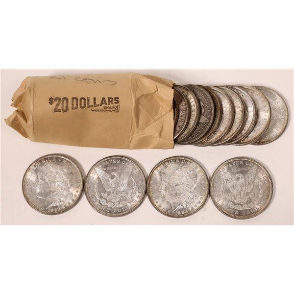 Morgan Dollars (14 ea)  and Peace Dollars (7 ea) [124782]