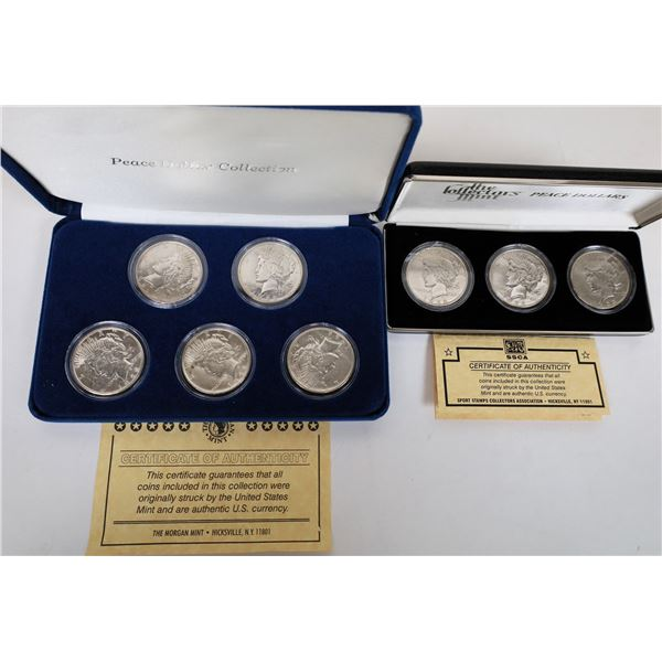 Peace Dollars In Presentation Boxes  [135340]