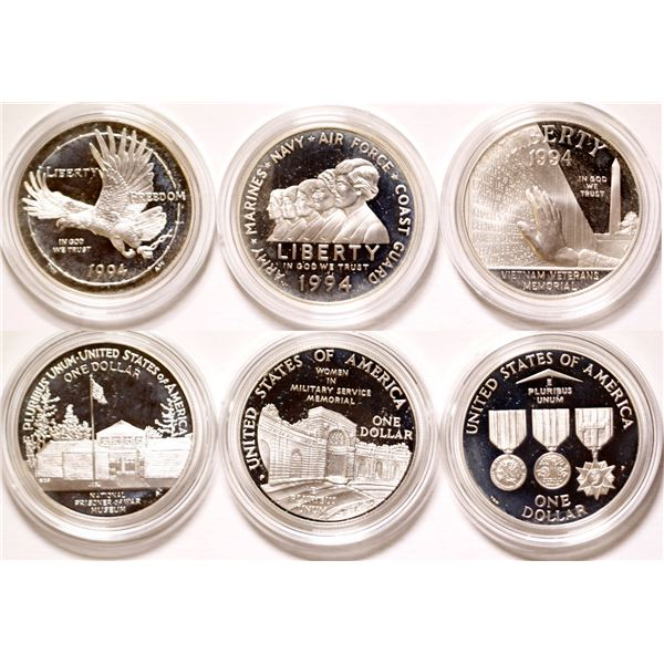 U.S. Veterans Silver Dollars Proof Set  [135338]