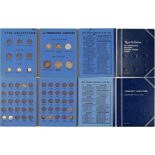 Two Blue Whitman Folders with Coins  [135371]