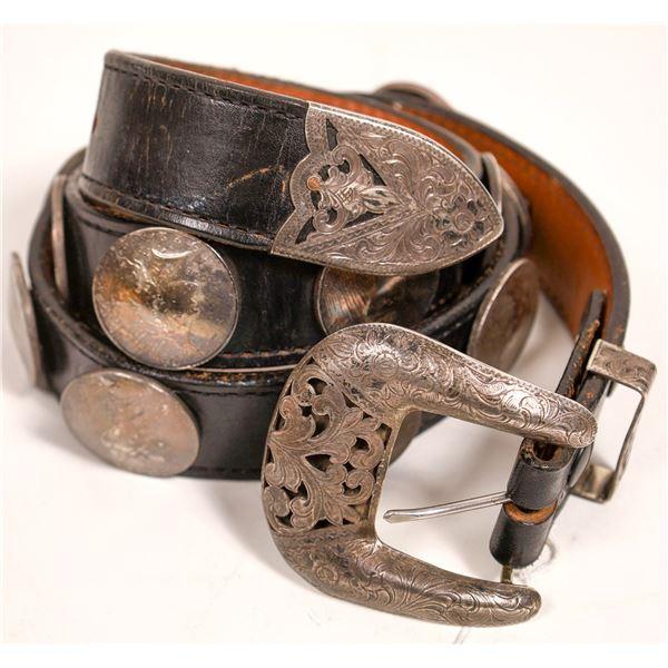 Sterling Silver Dollar Belt  [132029]