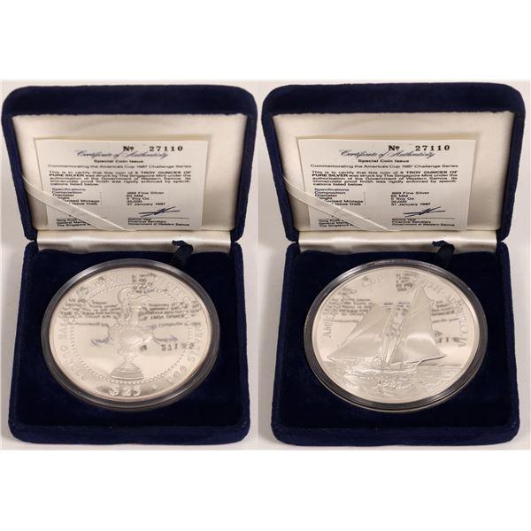 Five Ounce Silver America's Cup Commemorative  [131219]