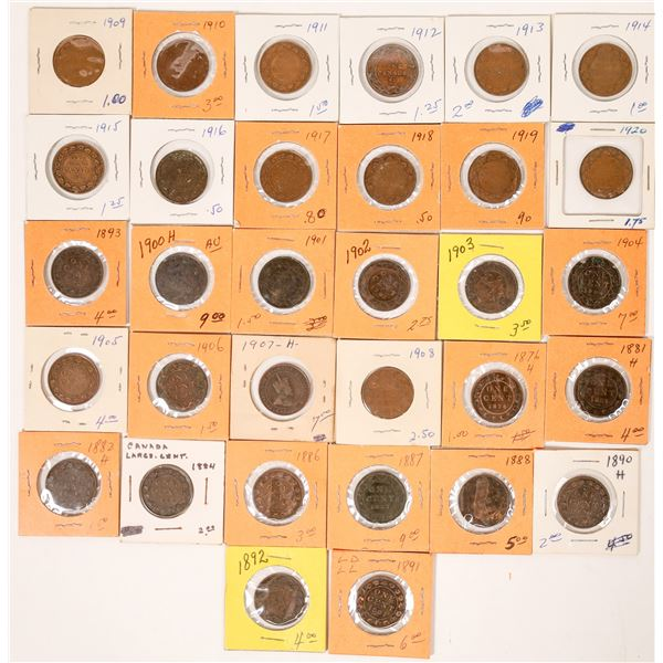 Canadian Large Cent Collection  [124780]
