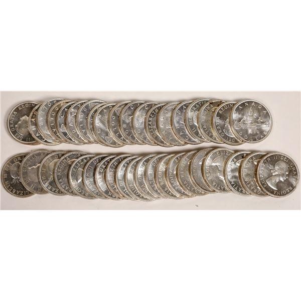 Canadian Silver Dollar BU Rolls  [124804]