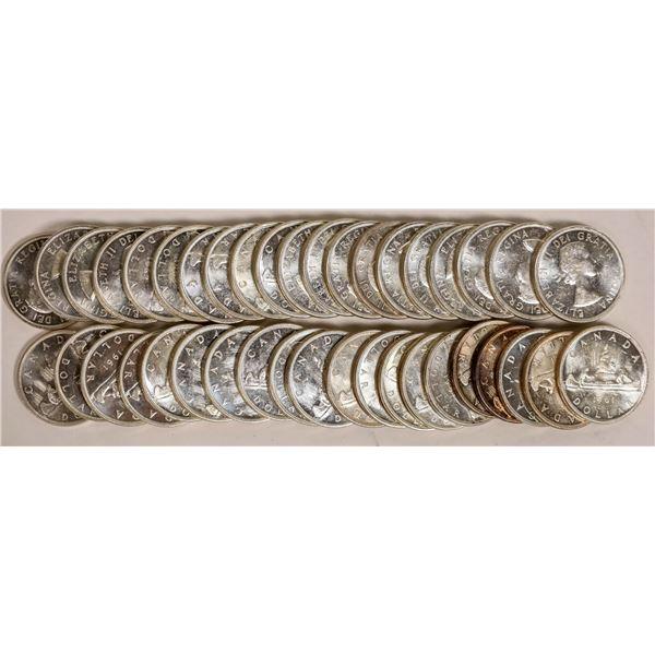 Canadian Silver Dollar BU Rolls  [124803]