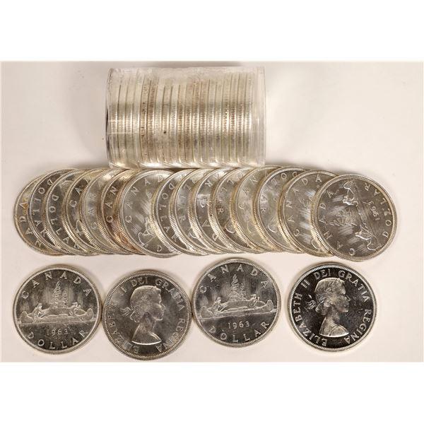 Canadian Silver Dollar BU Rolls  [124801]