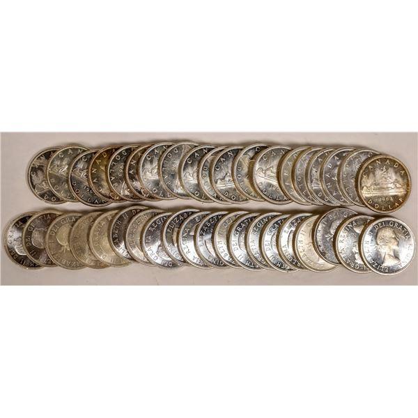 Canadian Silver Dollar BU Rolls  [124802]