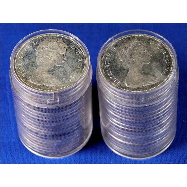 Canadian BU Rolls 1966 Dollars   [131195]