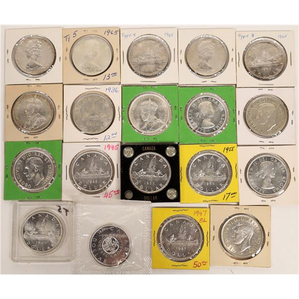 Canadian Silver Dollar Collection  [131177]