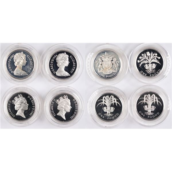 Royal Mint Silver Proof Coin Sets: 1983, 1984, 1985  [134032]
