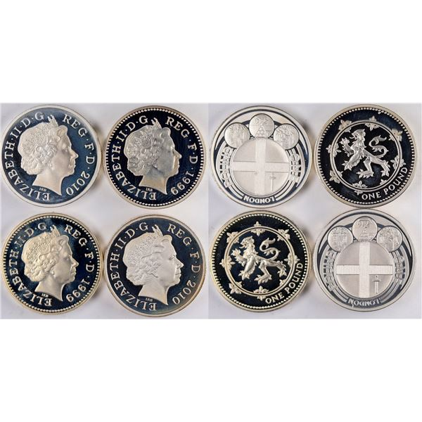 Royal Mint Silver Proof Coin Sets: 1999 and 2010  [134034]