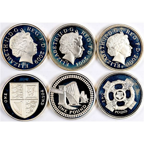 Royal Mint Silver Proof Coin Sets: 2001, 2004, 2009  [134044]