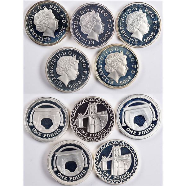 Royal Mint Silver Proof Coin Sets: 2005 & 2006  [134037]