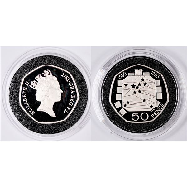 Royal Mint Silver Proof Piedfort 50 Pence Coin  [134041]