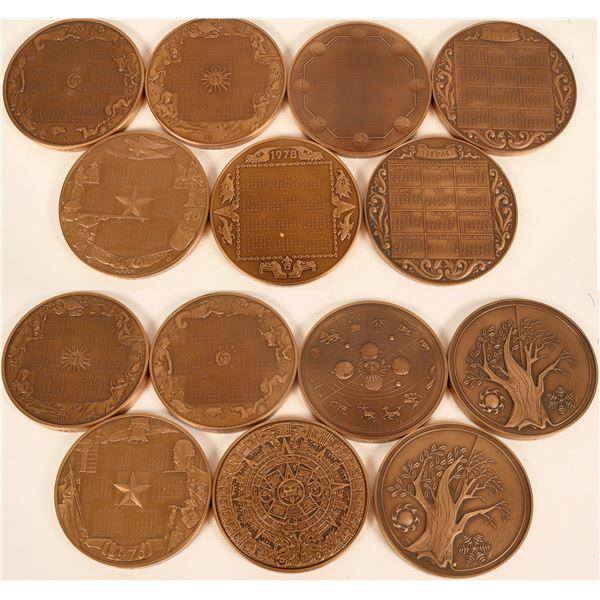 Franklin Mint Calendar Medals  [124001]