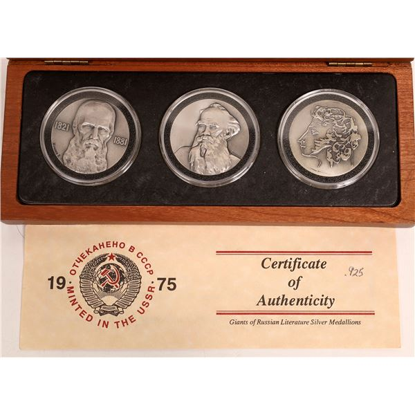 Giants of Russian Literature Silver Medallions  [132039]