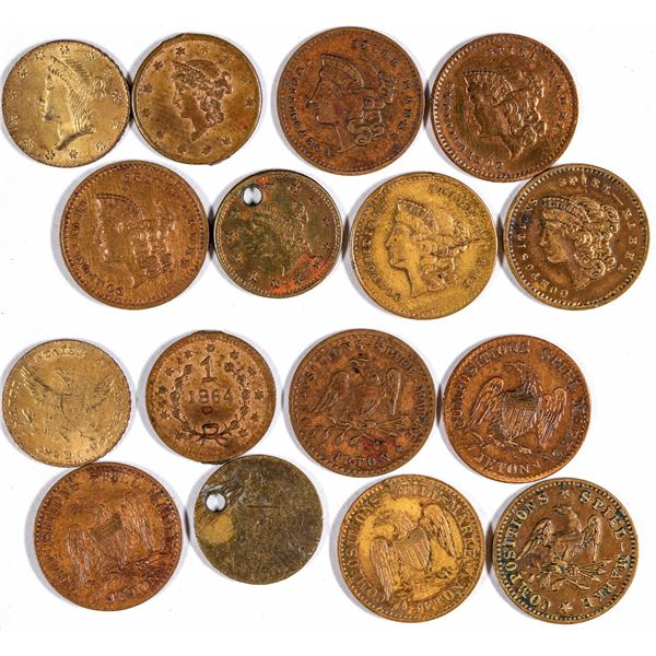 $1 Liberty Head Counters Lot of 8  [129344]