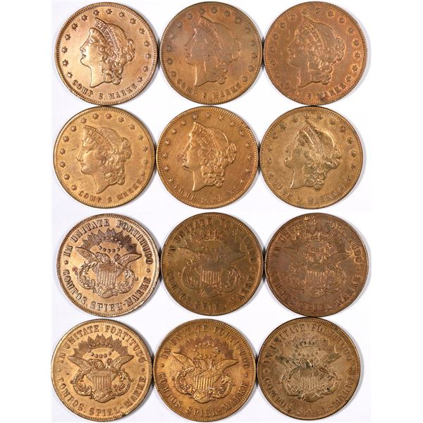 $20 Liberty Head Counters (Lot of 6)  [129350]