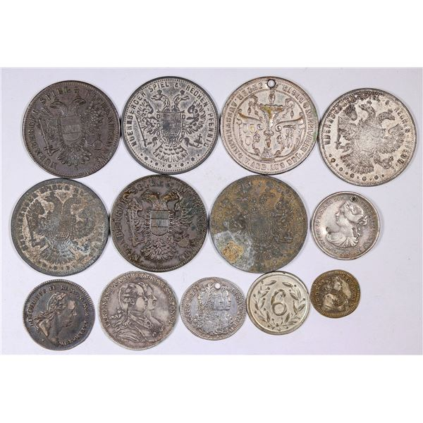 Rare Early Silvered Counters  [126133]
