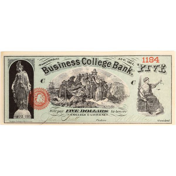 Business College Bank Currency  [131198]
