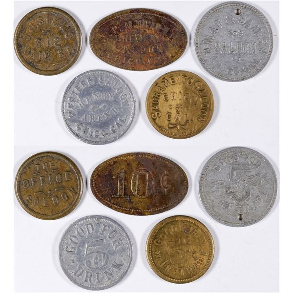 Chico Saloon Tokens  [132107]
