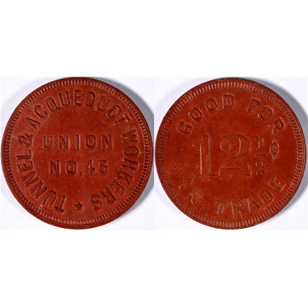 Hetch Hetchy Tunnel & Acqueduct Workers Union Token  [132003]