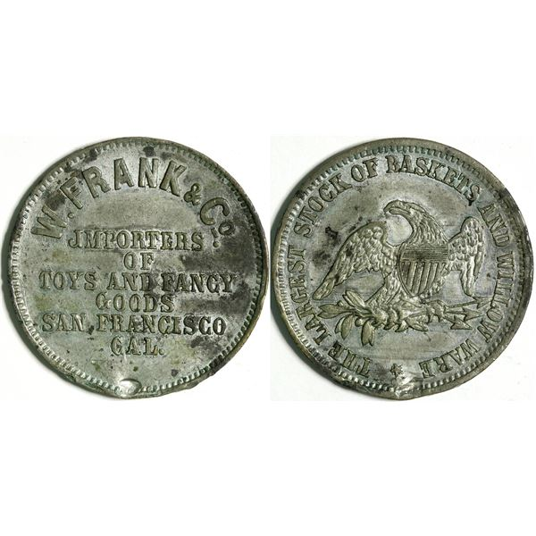 W. Frank, Store Card and Gaming Token  [135479]