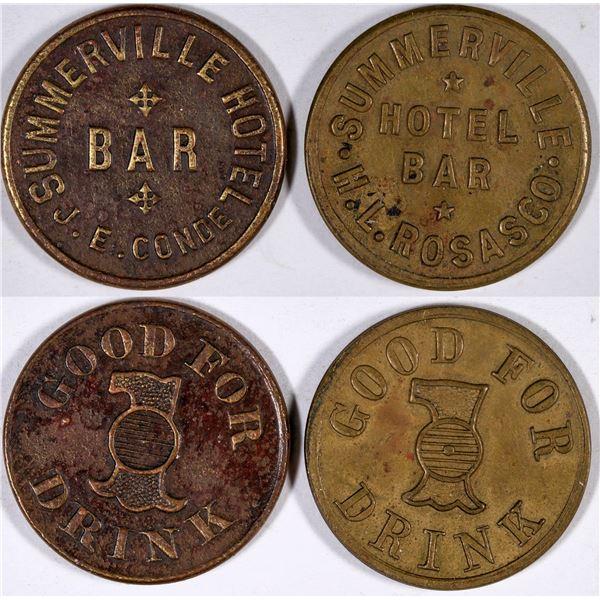 Summerville Hotel Bar Tokens  [132165]