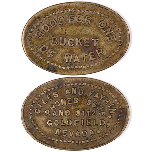 Good For One Bucket of Water Token  [129315]
